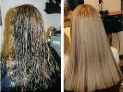 When done right (how we do it in our salon) the hair should look stunningly straight with minimal effort.
