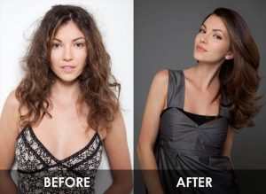 Brazlian Hair Straightening - Before and After